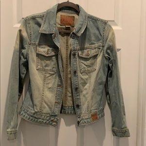 Light Dirty Denim Guess Jacket Size S